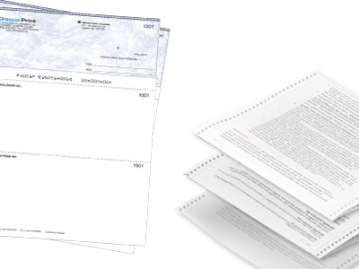 Printed forms and invoices
